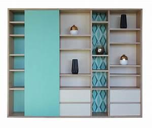 Ikea Bibliothèque Blanche : composition murale biblioth que 1 porte coulissante 4 tiroirs ch ne blanchi laqu vert ~ Teatrodelosmanantiales.com Idées de Décoration