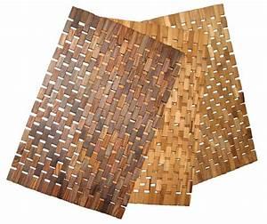 Tapis De Bain Bois : tapis de bain en bois tapis de salle de bain id de produit 100204429 ~ Melissatoandfro.com Idées de Décoration