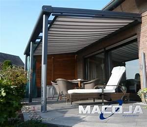 Terrassendach dari alu glas mit markise 5 m breit for Terrassenüberdachung alu vsg