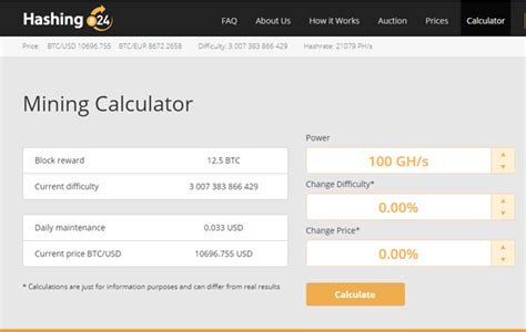 cloud mining calculator hashing24 review fees contracts roi profits