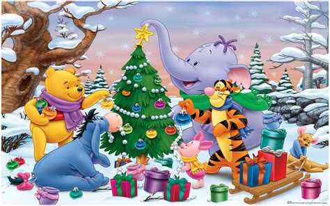cartoon winnie  pooh  friends decorating