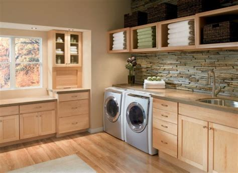 Waypoint White Kitchen Cabinets by 33 Laundry Room Shelving And Storage Ideas