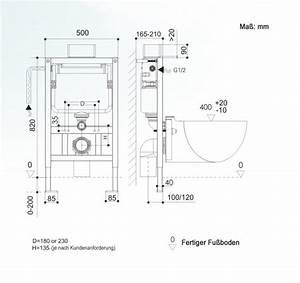 Abstand Wc Wand : wc vorwandelement g3005 inkl bet tigungsplatte satin ~ Lizthompson.info Haus und Dekorationen
