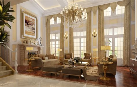 luxury living room with fireplace 3d model max cgtrader com