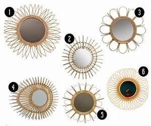 Miroir En Rotin : tendance o trouver des miroirs en rotin abordables ~ Nature-et-papiers.com Idées de Décoration