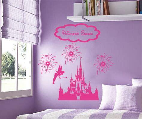 princess fairy castle disney fireworks personalized vinyl