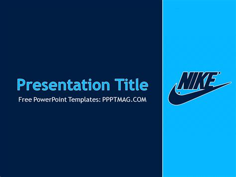 nike powerpoint template pptmag