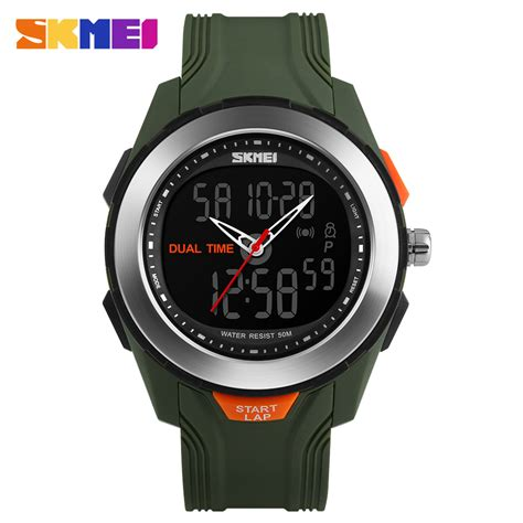 skmei jam tangan digital skmei jam tangan digital analog pria ad1157 green
