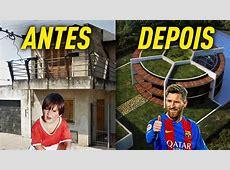 CASA DOS JOGADORES ANTES E DEPOIS DA FAMA! C Messi, CR7
