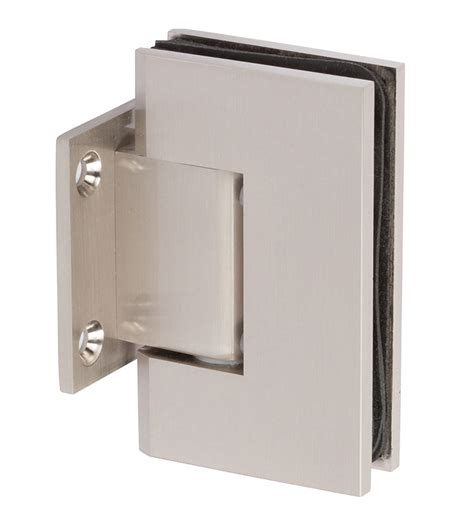 shower door hinges shs037s bn wall to glass square shower door hinge in