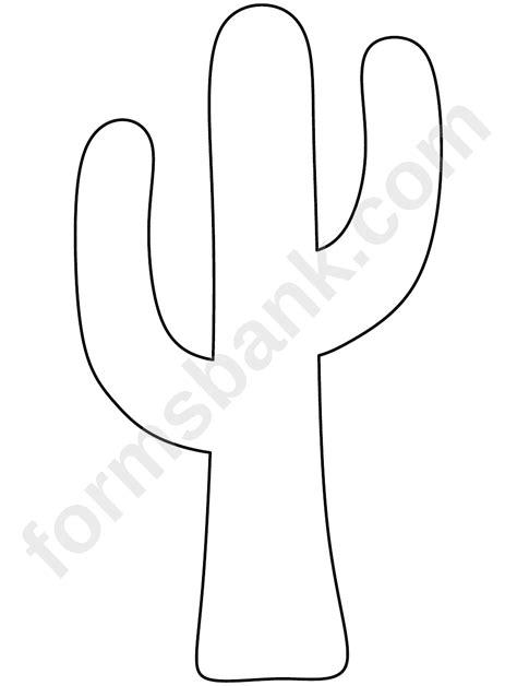 cactus template cactus template printable pdf