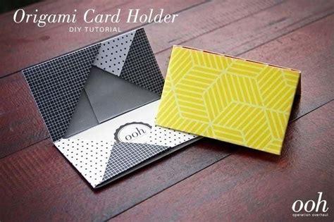 diy origami cardholder     paper wallet