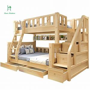 louis fashion children bunk bed real pine wood with ladder With toddler bunk beds safety guide