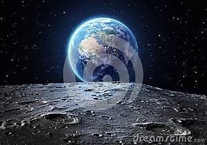 Surface De La Terre : la terre bleue vue de la surface de lune photo stock ~ Dailycaller-alerts.com Idées de Décoration