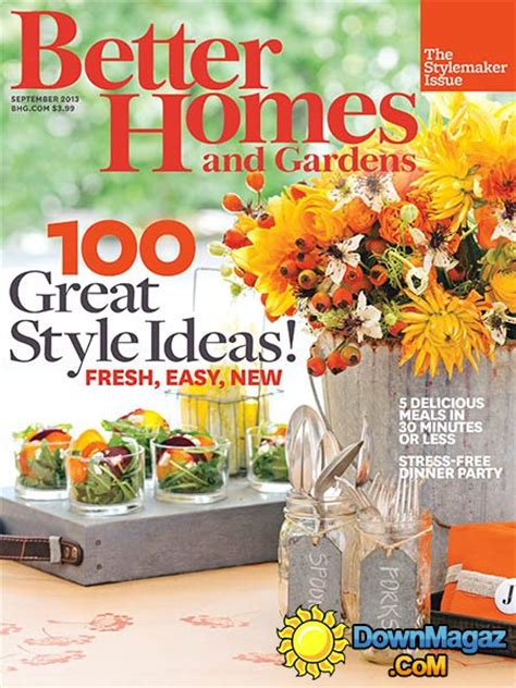 better homes and garden magazine better homes and gardens september 2013 187 download pdf magazines magazines commumity