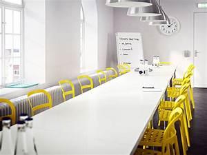 Table De Réunion Ikea : salle de r union avec longue table de conf rence blanche compos e de plusieurs petites tables et ~ Teatrodelosmanantiales.com Idées de Décoration