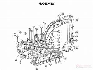 Cat 345b  345bl Track-type Excavators Parts Manual