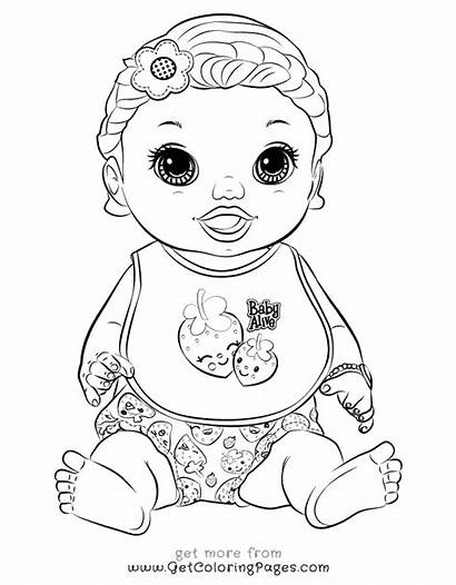 Alive Coloring Pages Packets Printable Doll Colouring