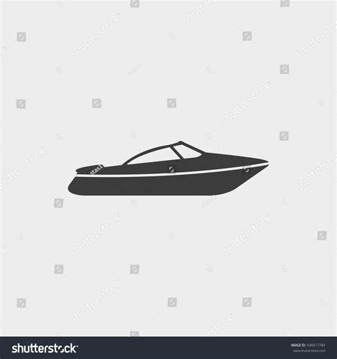 Motor Boat Vector by Motor Speed Boat Icon Flat Design Stock Vector 436017784