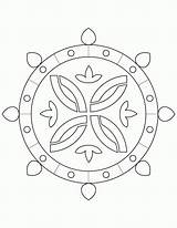 Rangoli Coloring Pages Clipart Din Pdf Printable Clip Library Books sketch template