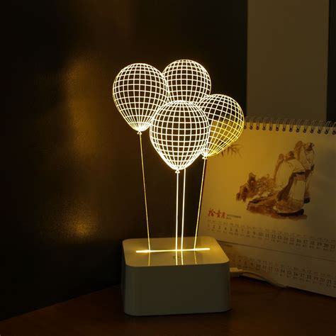 led lights for home decoration balloon novelty usb touch 3d night light three dimensional