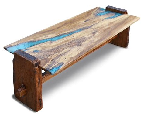 what is a live edge table custom live edge rustic oak with turquoise inlay coffee