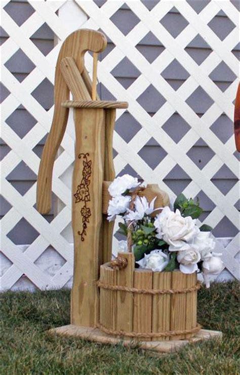 amish outdoor mini pump planter  bucket