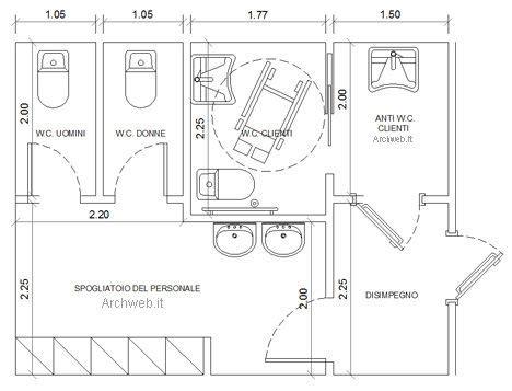 doccia misure minime bagni pubblici dwg servizi igienici per il pubblico 2