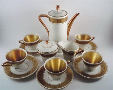 bavaria porzellan gold royal porzellan bavaria km germany handarbeit 15 pc demitasse set deco gold 24k haute juice