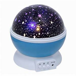 Rotating ceiling light projector : Novelty rotating round night light projector lamp star