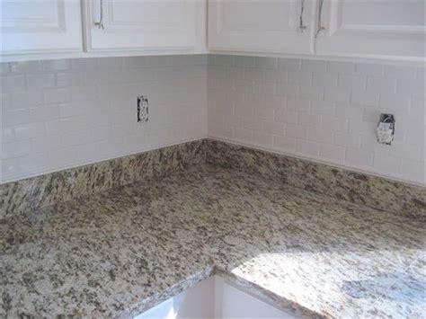 contemporary kitchen backsplashes st cecilia white granite backsplash subway tile