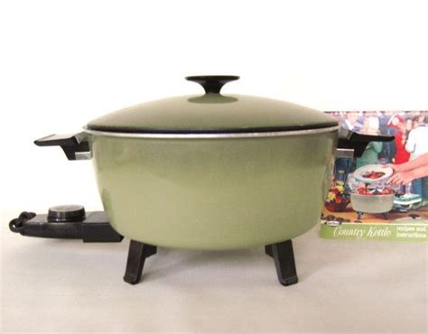 country kitchen kettle west bend country kettle electric pot avocado green 1960s 2826