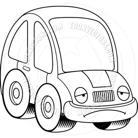 Cer Clip Happy Cer Clipart Black And White Car Stock Vector