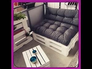 Balkon Lounge Möbel : diy sofa paletten sofa balkon m bel selber bauen youtube ~ Whattoseeinmadrid.com Haus und Dekorationen