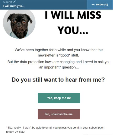 gdpr  permissioning email templates