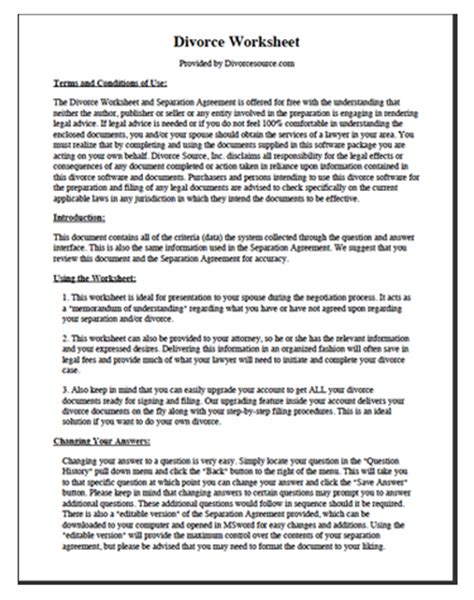 divorce papers  texas  family law forms