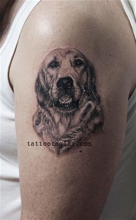 coolest golden retriever tattoo designs   world