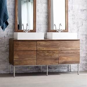 Les 25 meilleures idees de la categorie meuble double for Meuble sous evier bois massif 13 meuble double vasque de design moderne en 60 exemples
