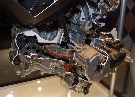 Cutaway Photos Of The Ducati Superquadro Engine