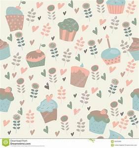 Cute Cartoon Cupcake Wallpaper