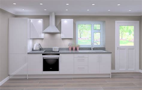 single galley kitchen quality classic white door kitchen package trade 2244