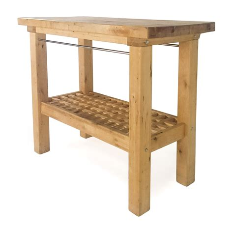 72% Off  Ikea Ikea Butcher's Block Table Tables