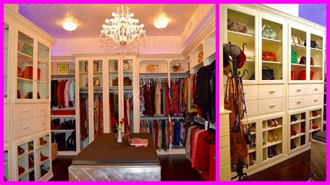 Large Closets by My New Walk In Closet Tour