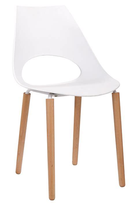 chaises design blanche chaise blanc bois
