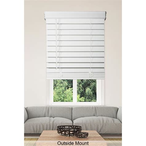 white faux wood blinds home decorators collection white cordless 2 1 2 in