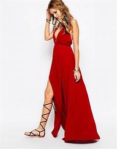 la robe longue d39ete 65 belles variantes With robe rouge longue pas cher