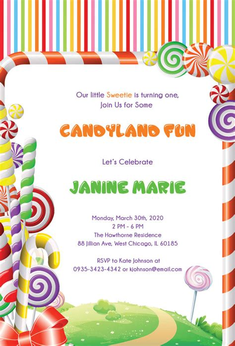 printable birthday invitations  premium templates