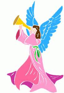 Angel with Trumpet Clip Art Free