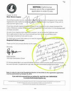 Bad data: Voter Participation Center registration letters ...