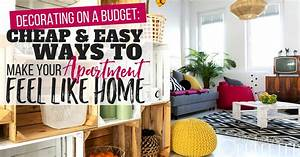 apartment decorating on a budget make your apartment feel With how to decorate a house on a budget